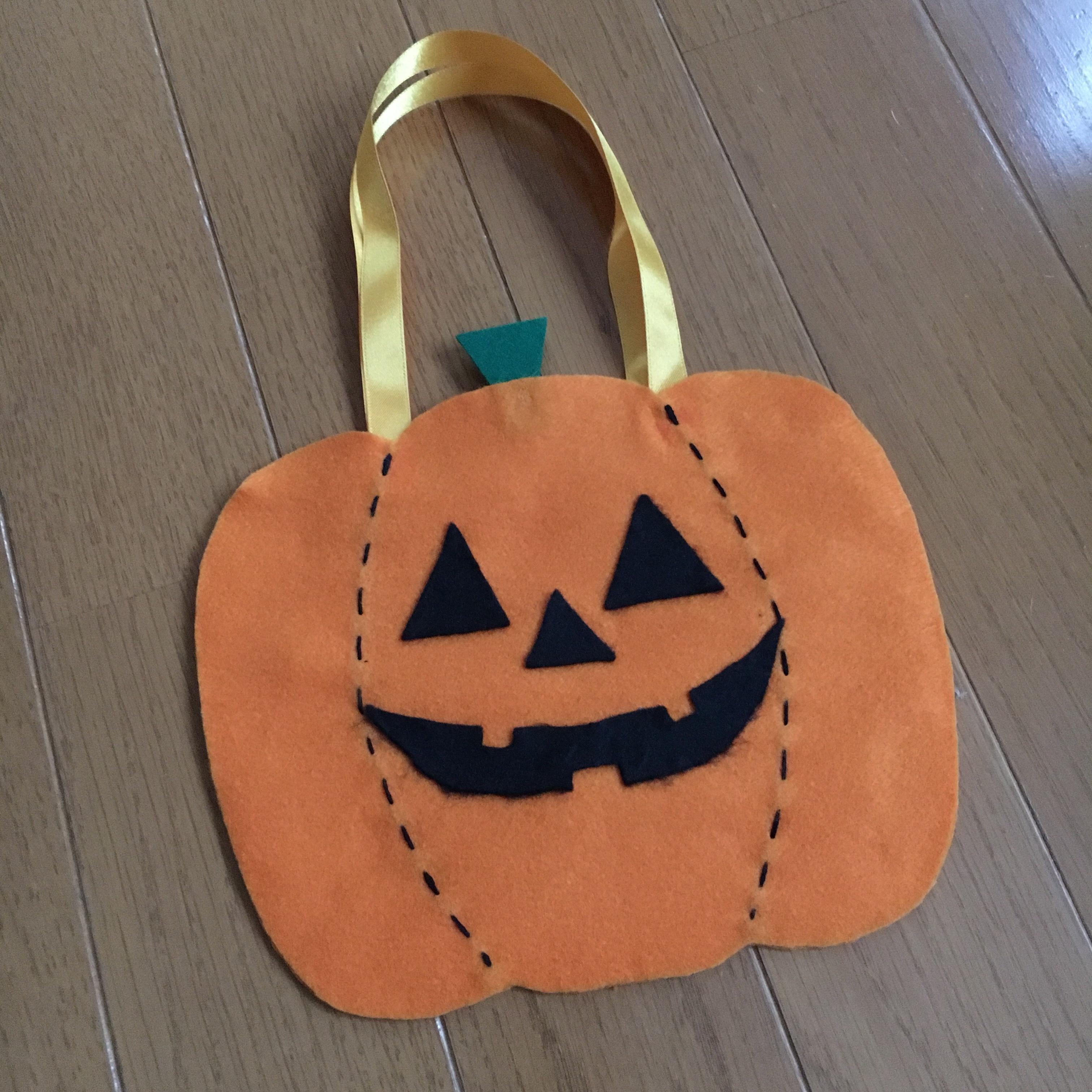 ハロウィンのお菓子バッグを手作り!かぼちゃ・おばけ・猫の